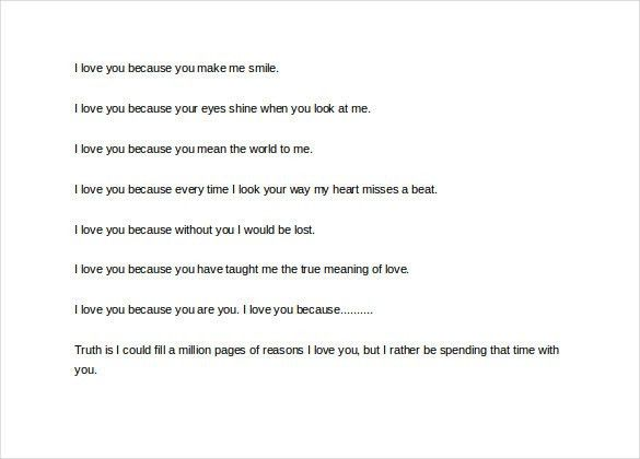 Love Letter To My Husband – 11+ Free Word, PDF Documents Download ...