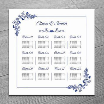 Best Wedding Seating Chart Template Products on Wanelo