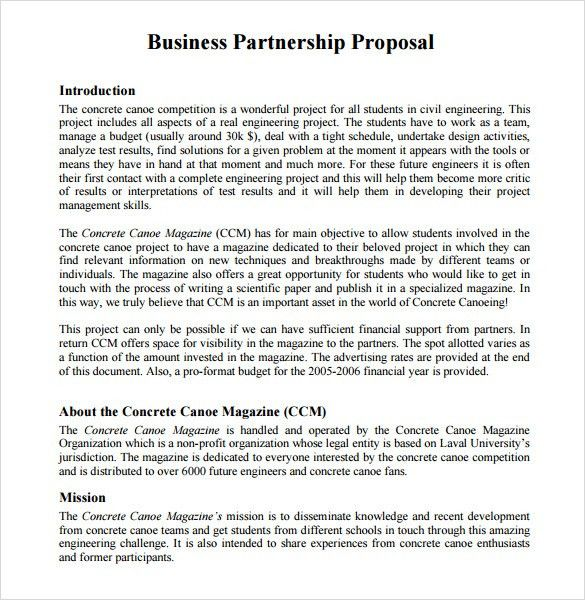 18+ Partnership Proposal Template Free | Social Media Consulting ...