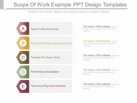 Scope Of Work Example Ppt Design Templates - PowerPoint Templates