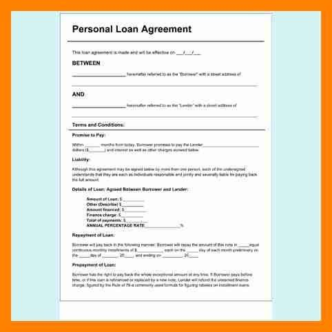 5+ personal loan contracts   resumes great