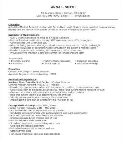 Medical Technologist Resume. Example Medical Assistant Resume ...