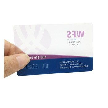 Free Sample Plastic Visiting Business/ Name Card Transparent ...