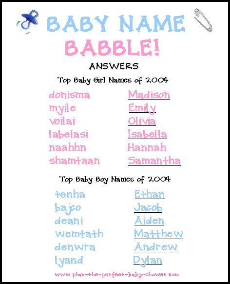 Baby Shower Word Scramble Game - Free & Printable!