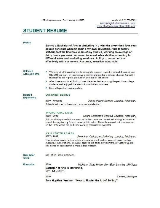 College Graduate Resume Objective - Best Resume Collection