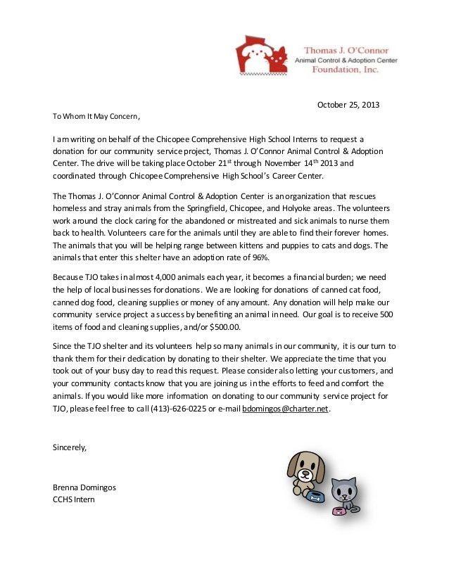 Community Service Letter. Community Service Completion Letter ...