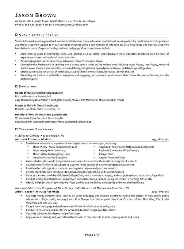 Education Resume Examples - Resume Professional Writers