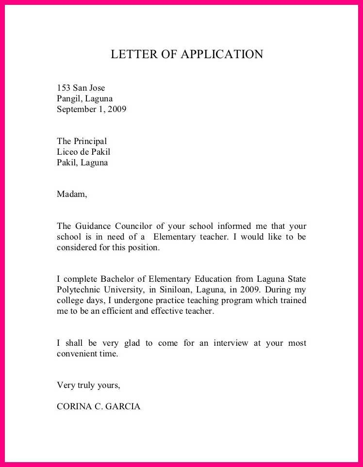 8 Format Of Application Form For Teachers