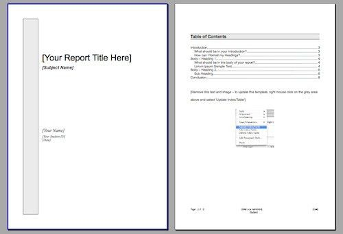 free templates for reports - Template