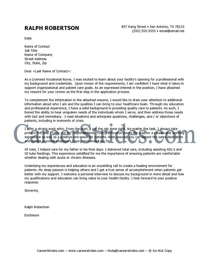 Download Writing A Nursing Cover Letter | haadyaooverbayresort.com