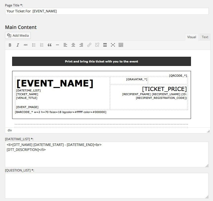 EE4 Printable Tickets Add-on - Event Espresso - WordPress Event ...
