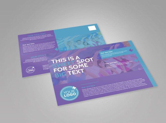 Aerobics Class EDDM Postcard Template | MyCreativeShop