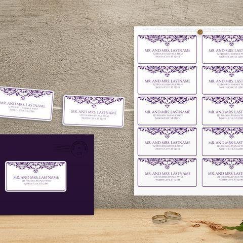 Purple Wedding Templates