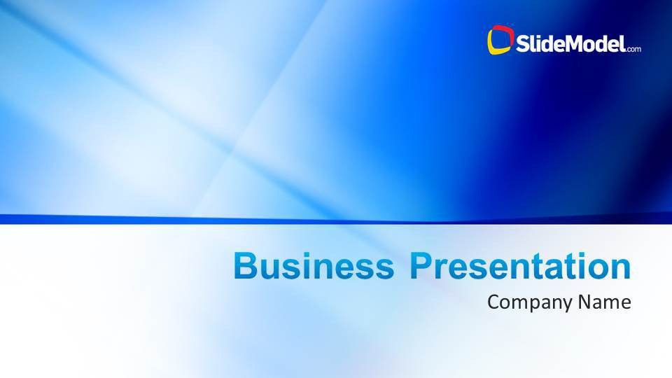 Blue Company Profile Business PowerPoint Template - SlideModel
