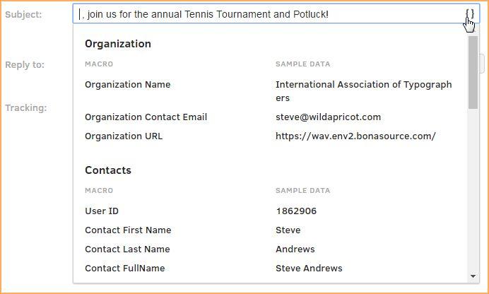 Sending email blasts - Online help - Wild Apricot help