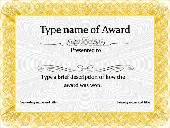 7+ certificate of achievement template word | Outline Templates