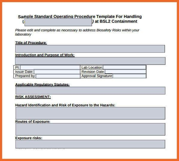 Sop Templates Examples. Iso Standard Operating Procedures Template .