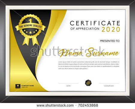 certificate template vector illustration, diploma layout in a4 ...