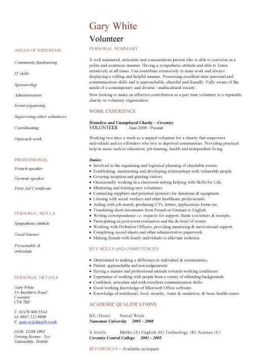 Volunteer Resume. Social Worker Resume In Ontario / Sales / Worker ...