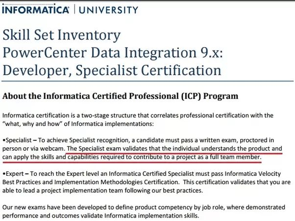 Is Informatica certification helpful for fresher to get off-campus ...
