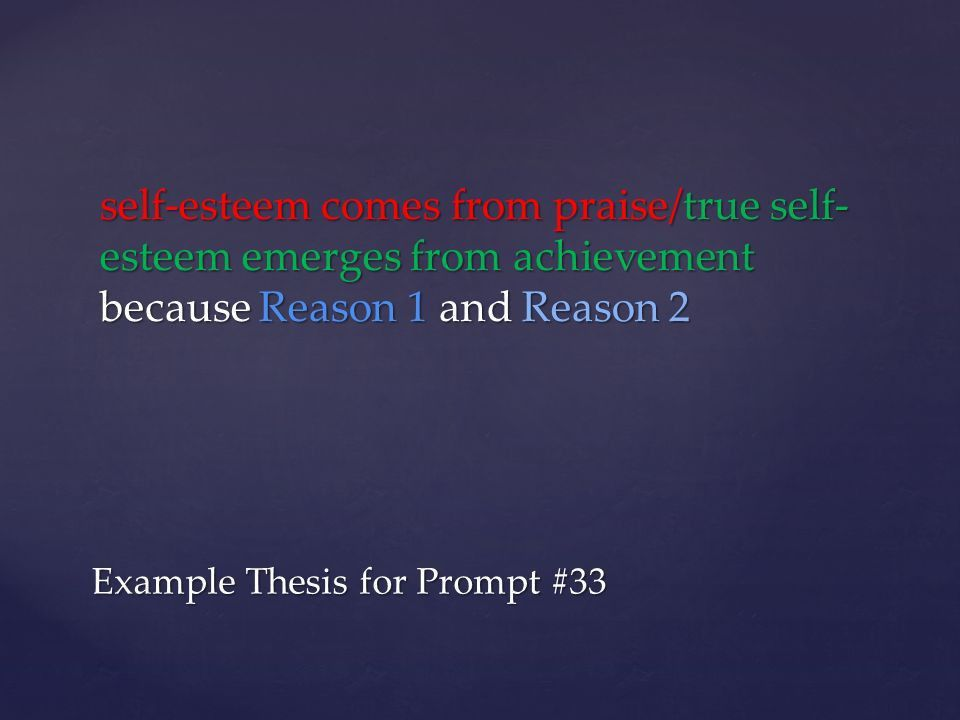 Elements of a Thesis Assertion – Where you stand on the issue ...