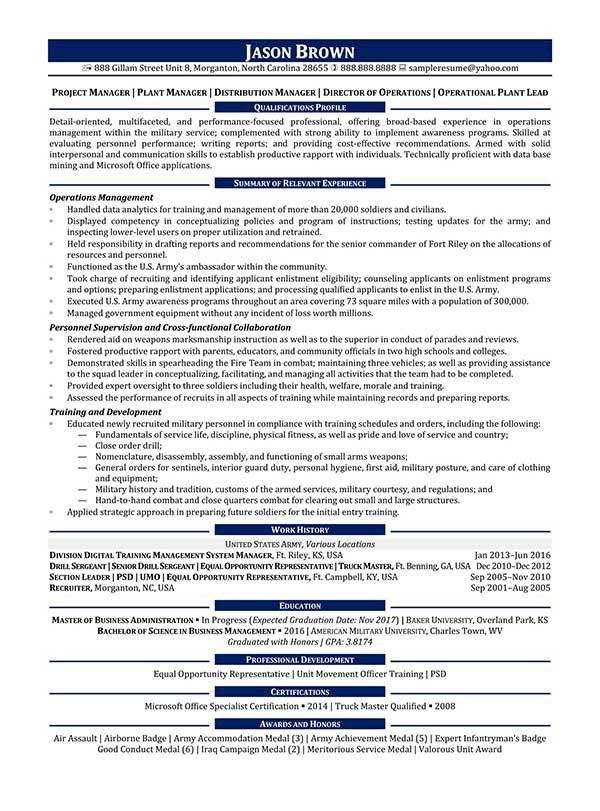 Operations Resume Examples - Resume Professional Writers