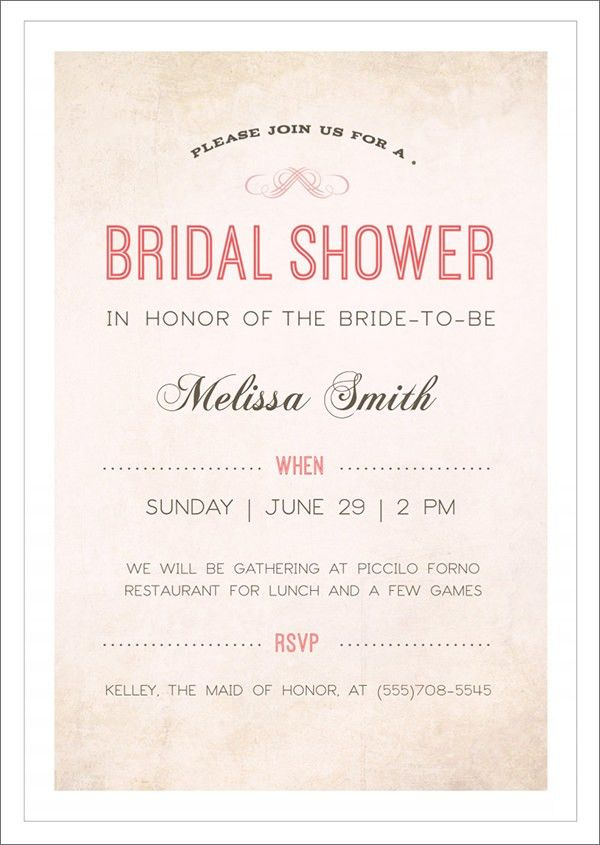 Free Bridal Shower Invitations – gangcraft.net