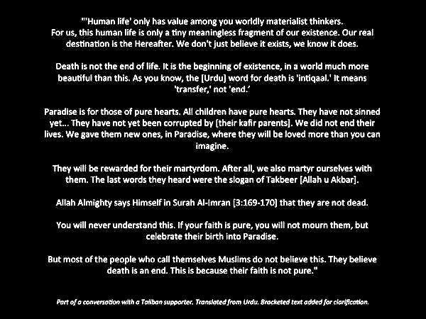 The anti-life reductio ad absurdum of Islamism   Atheism ...