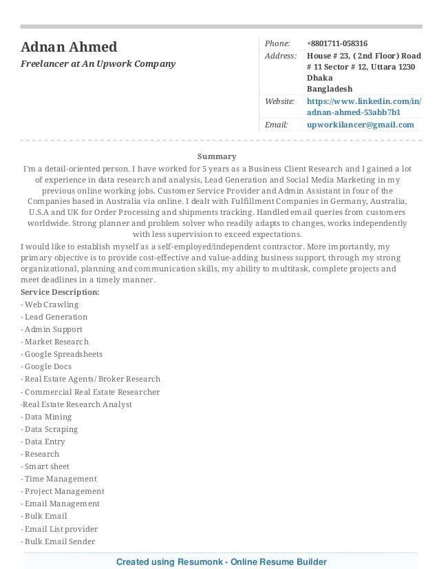 Resumonk Online Resume Builder