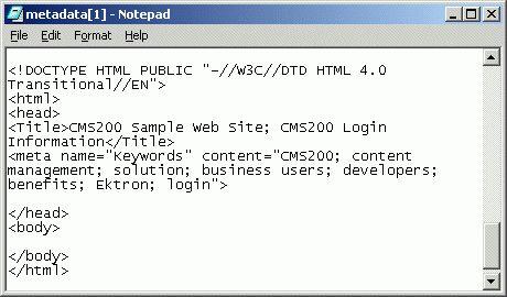 Metadata Function