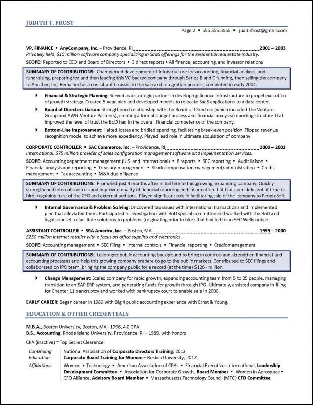 Board Of Directors Resume Sample | Samples Of Resumes