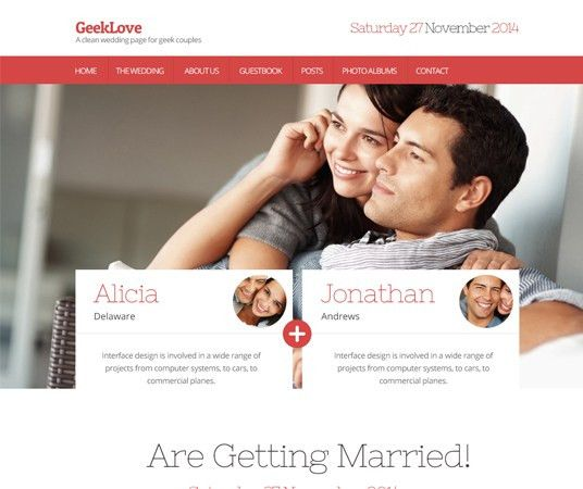 Top 20 Wedding Photography and Event Planning Website Templates ...