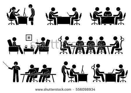 Businessman Business Meeting Conference Discussion Meet Stock ...