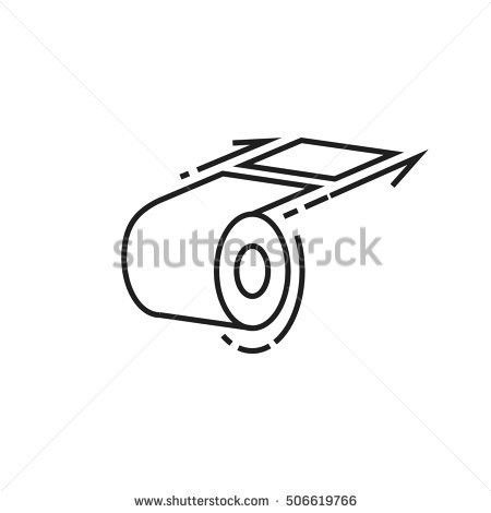Roll Toilet Paper Last Chance Icon Stock Vector 505409575 ...