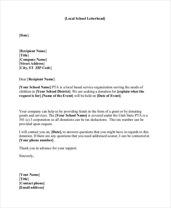 Sample Donation Letter Format. Previousnext Previous Image Next ...