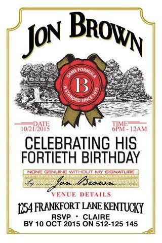 Jim Beam Birthday Digital Printable Invitation Template | Jack ...