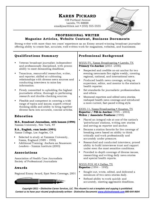 Web Content Writer Resume Sample. writer resume free resume ...