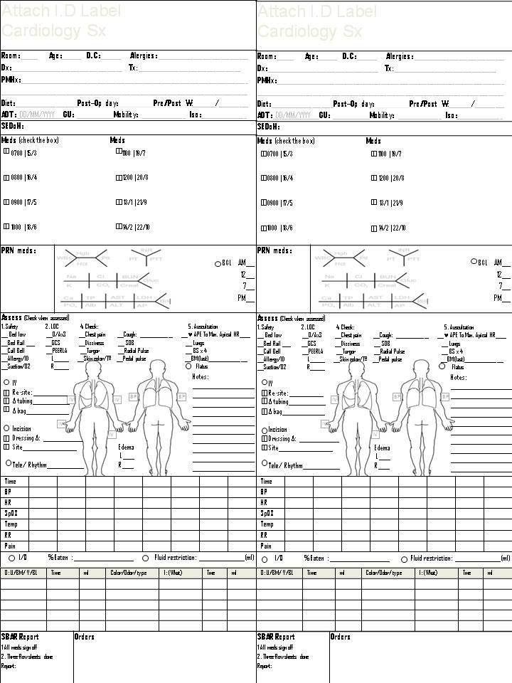 Med Surg Nurse Brain Sheet Template | Clinical | Pinterest | Nurse ...