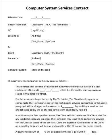 Service Contract Template - 11+ Free PDF Documents Download | Free ...