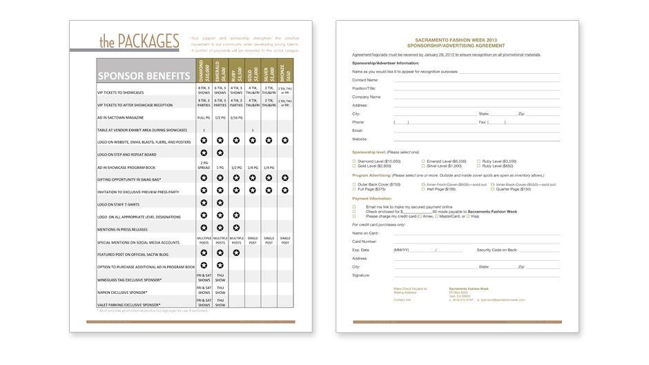 Sponsorship Package Design