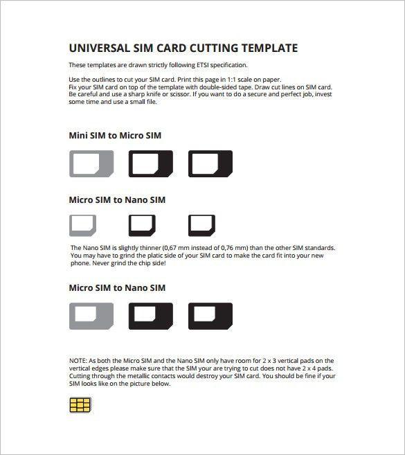 Micro Sim Card Template - 12+ Free Printable Sample, Example ...