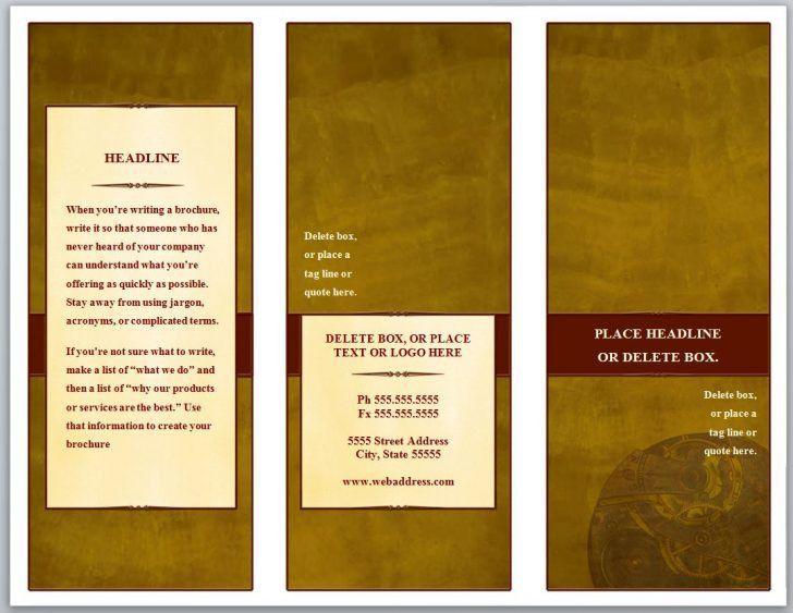 Awesome Publisher Tri Fold Brochure Templates Free | pikpaknews