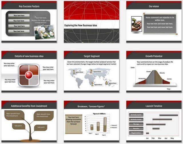 PowerPoint Business Plan Blueprint Template