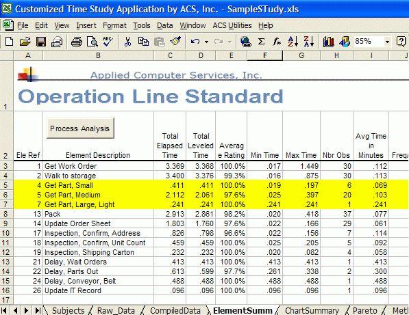 PDA Time Study