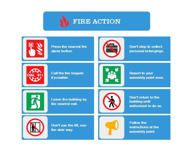 Fire Action Plan | Free Fire Action Plan Templates