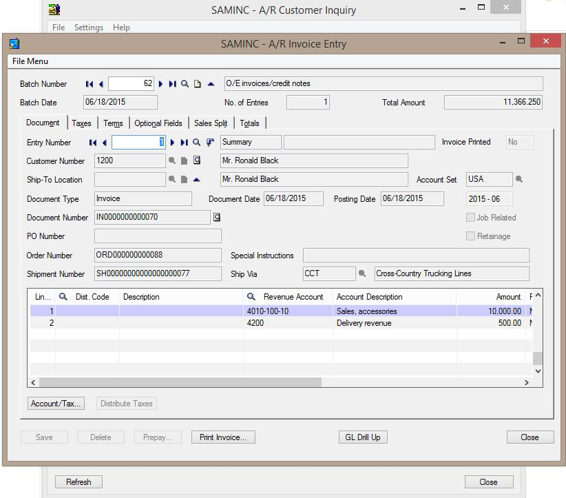 Knowing Pending Transaction In AR Customer Inquiry – Sage 300 ERP ...