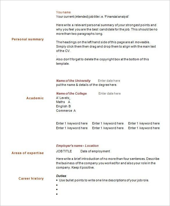 Resume Templates Pages. Black & White Resume Template With Free ...