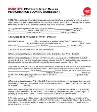 DJ Contract - 9+Free Word, PDF Documents Download | Free & Premium ...