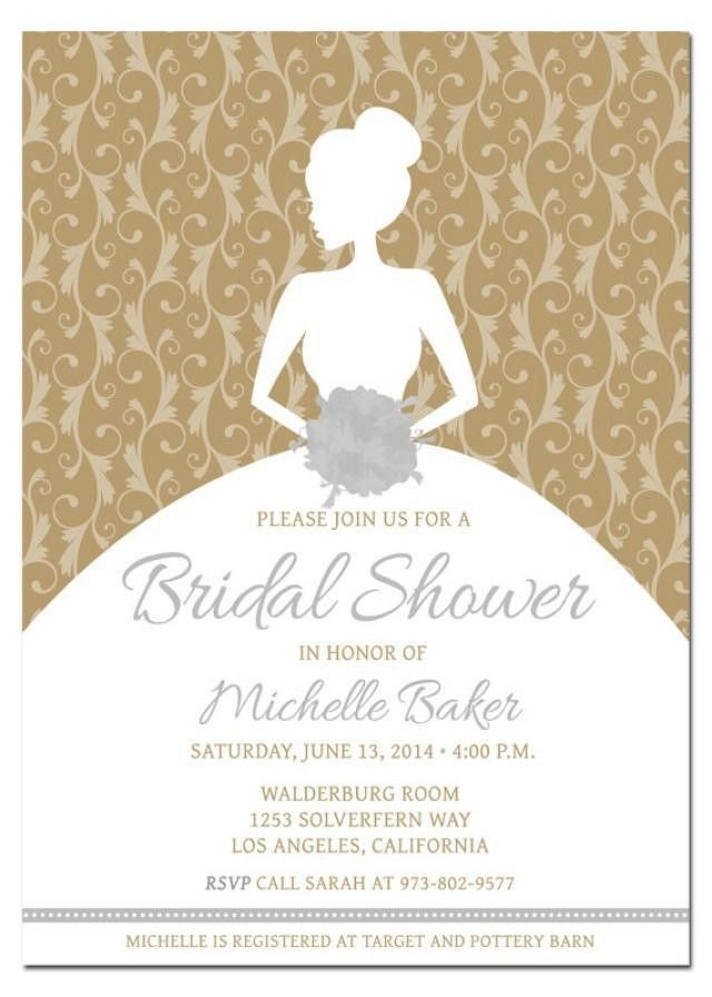 Printable DIY Bridal Shower Invitation Template With Photoshop ...