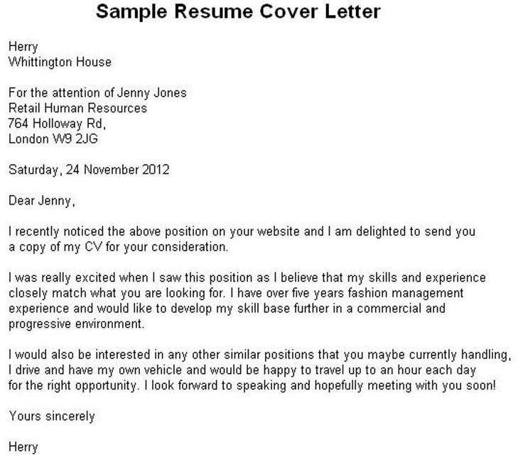 Best 10+ Sample resume cover letter ideas on Pinterest | Resume ...